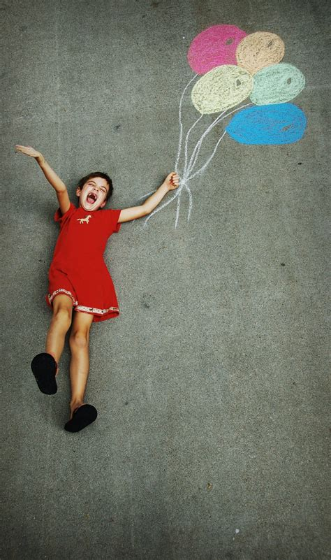 chalk balloon fun perfect  kids pics baby poses