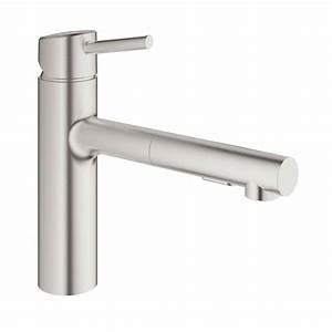 Grohe Concetto Küchenarmatur : grohe concetto single handle pull out sprayer kitchen ~ Watch28wear.com Haus und Dekorationen
