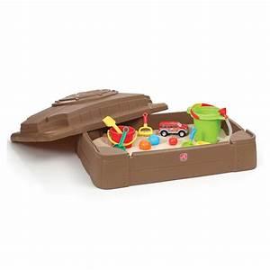 Sable Pour Bac à Sable Gifi : bac sable avec couvercle step 2 king jouet bacs ~ Dailycaller-alerts.com Idées de Décoration