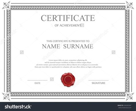 Share Certificate Template South Africa
