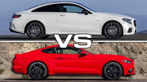 ford mustang ecoboost 2018 2018 mercedes e class coupe vs ford mustang ecoboost