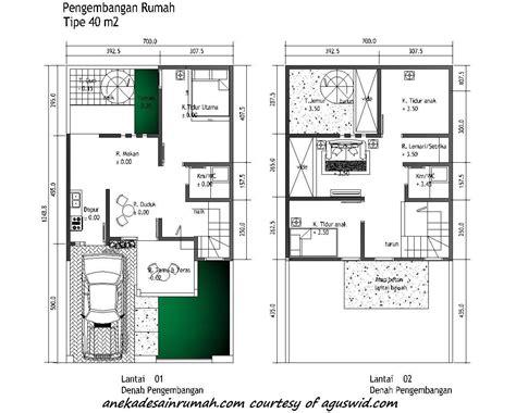 denah rumah  lantai model  desain denah rumah