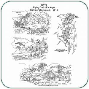 Flying Ducks Patterns – Classic Carving Patterns