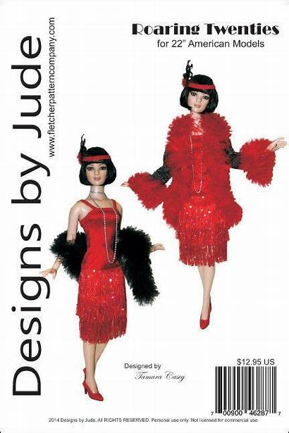 Roaring Twenties Patterns Pattern Flapper American Dolls