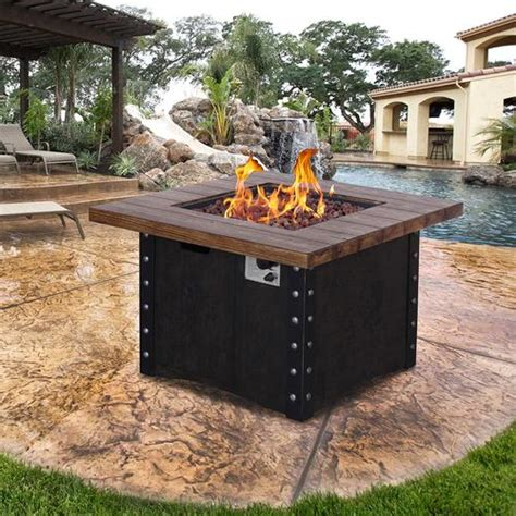 Backyard Propane Pit by Backyard Creations 174 Propane Gas Pit Table At