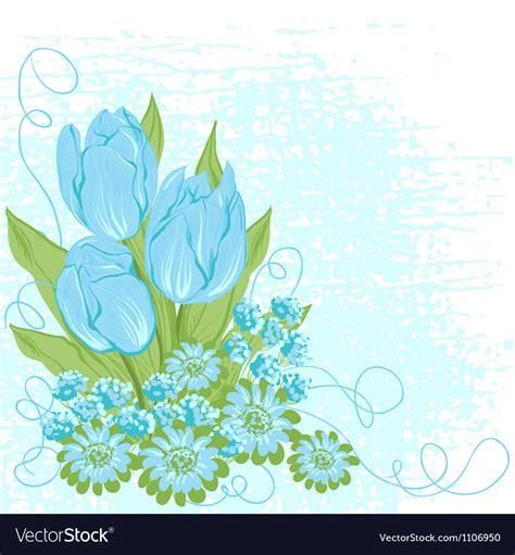 design card  tulips flower background royalty  vector