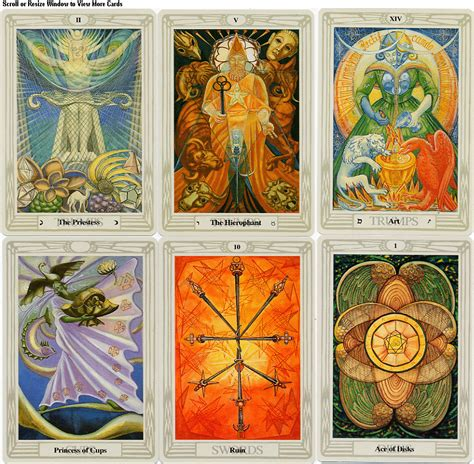 aleister crowley s thoth tarot visual communication history