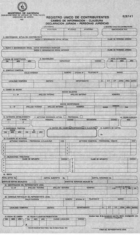 disposiciones de aplicacion general formularios