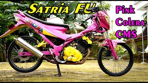 Foto Motor R Warna Pink by Ide Modif Drag Satria Fu 150 Terbaru Dan