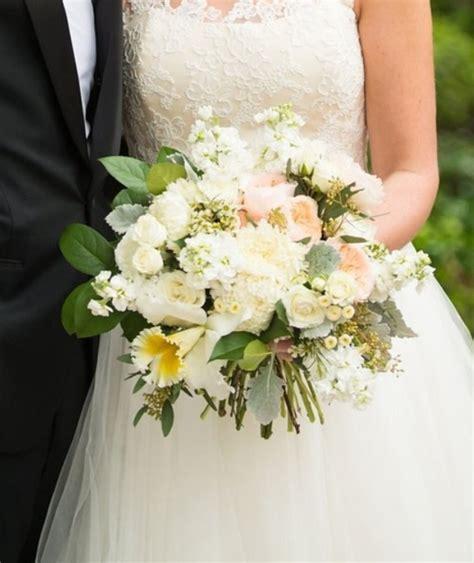 Bridal Bouquet Of Juliet Garden Roses White Football Mums