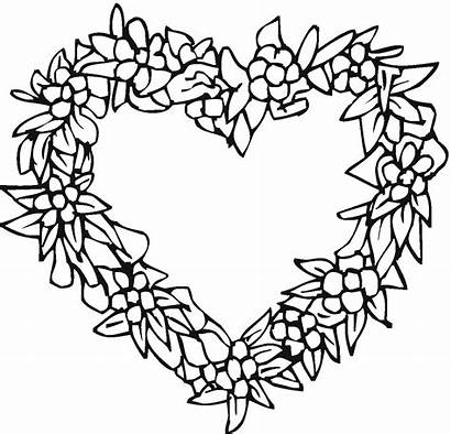 Heart Coloring Pages Printable Flower