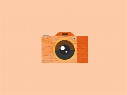 Camera Animation Shot Wood Wooden Icon Dribbble