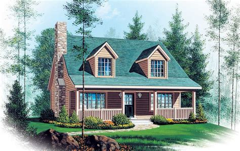 Two Story Vacation Home Plan