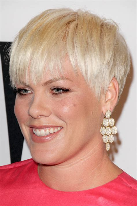Pink Hairstyles by Pink Platinum Pixie Cut Hairstyle