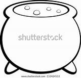 Cauldron Witch Vector Witches Pot Coloring Template Shutterstock Pages Hand Paper Towels Roll Royalty Lightbox Save sketch template