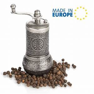 Black Pepper Grinder  Refillable Turkish Spice Mill With