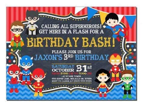 superhero photo birthday invitations