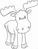 Moose Coloring Pages Print Printable Sheet Muffin Cute Animal Templates Christmas Give sketch template