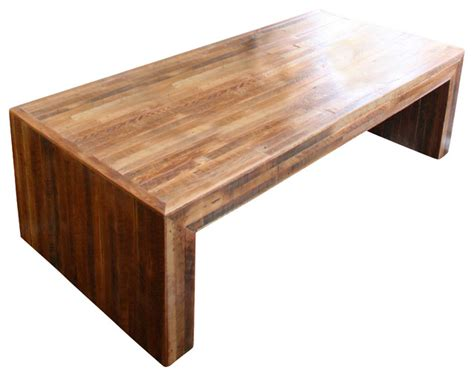 jackson table modern coffee table made from reclaimed wood