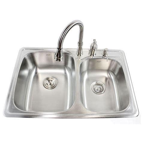 60 40 drop in kitchen sinks 33 inch stainless steel top mount drop in 60 40 double