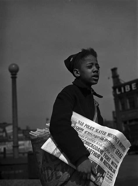 african american newsboy original photograph  everett
