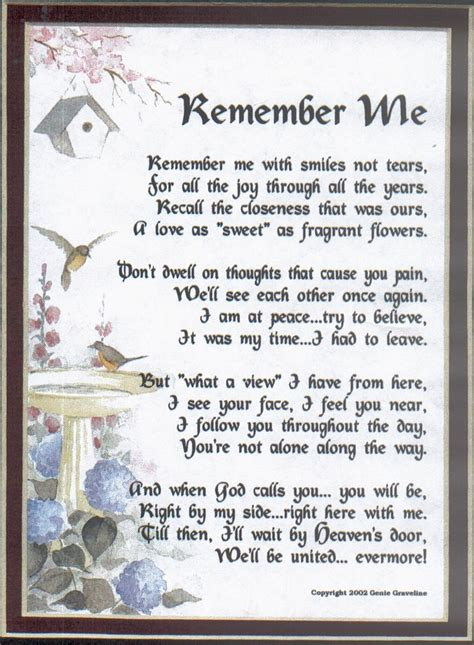 poem remember      brother