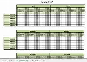 Putzplan fur 2017 mit excel vorlagen und pdf excel for Putzplan excel