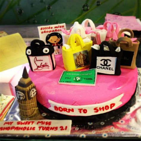 Shopaholic, Born To Shop Theme Cakes And Cupcakes Cakes