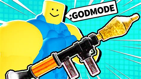 giving roblox noobs powerful weapons youtube