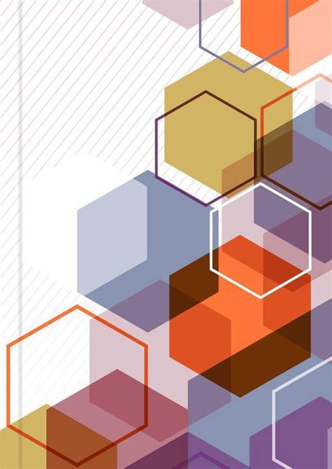 Geometric Album Cover Design Background Vector Material in
