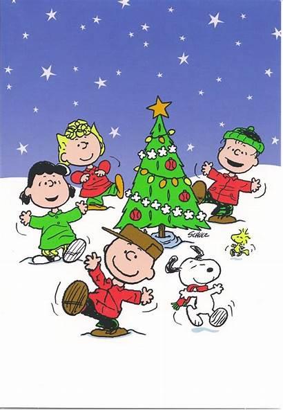 Christmas Peanuts Snoopy Tree Around Clipart Gang
