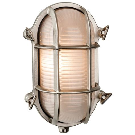 alfie lighting adminal 1 light wall light nickel bulk head