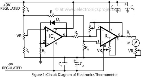 electronics thermometer electronics project