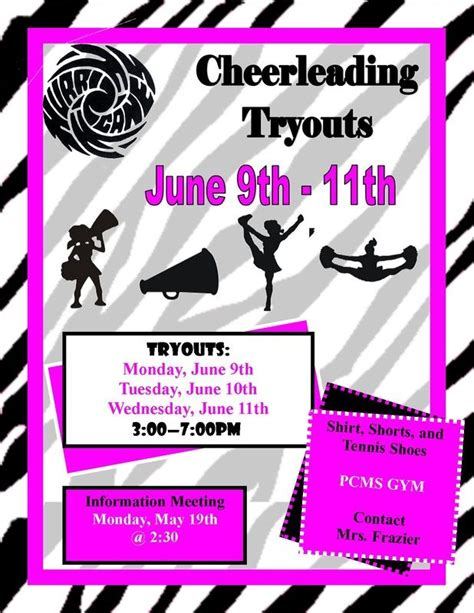 cheerleading tryouts publisher flyer