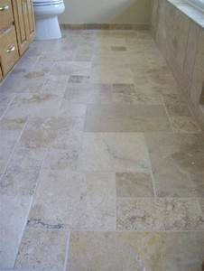 Versaille pattern of natural stone tile in master bathroom for Master floors mn