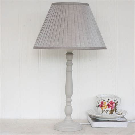 Floor Lamp Glass Shade Holder by Grey Lamp With Pleated Linen Shade By Magpie Living