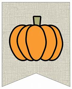 Free Printable Pumpkin Banner Decor