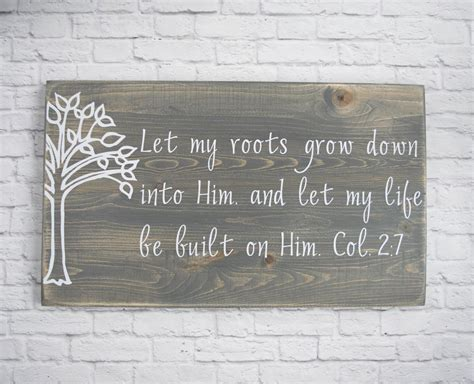 Christian Wood Sign Bible Verse Wall Art Scripture Wall