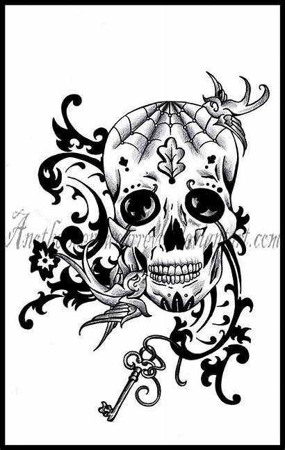 Skull Sugar Drawing Tattoo Deviantart Tattoos Skulls