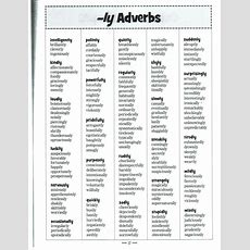 Best 25+ Adverbs Ideas On Pinterest  Noun Chart, Examples Of Adjectives And H Adjectives