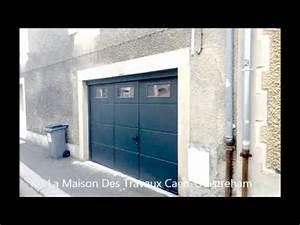 Porte De Garage Avec Portillon : porte de garage isolante avec portillon et hublots youtube ~ Melissatoandfro.com Idées de Décoration
