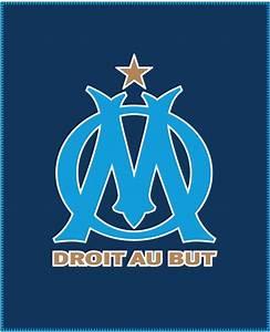 Plaid OM couverture 110 x 140 cm Logo Olympique de Marseille Decokids Tous leurs Héros