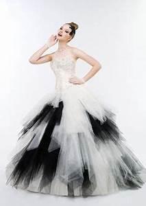 1000 images about robe de mariee noir et blanche on With fond de robe noir etam