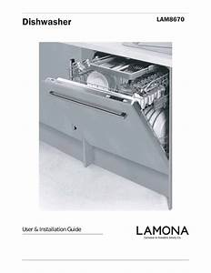Dishwasher Lam8670 User  U0026 Installation Guide