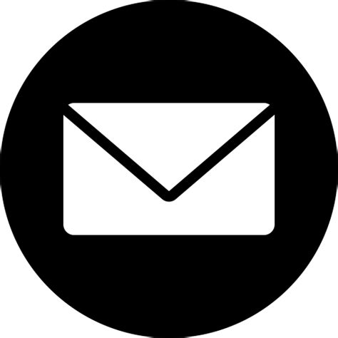 inbox icon white circle messages email message mail letter inbox icon