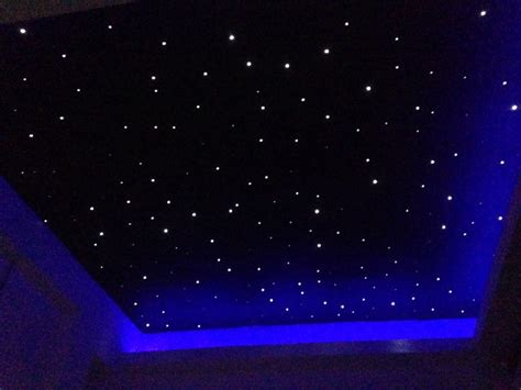 fibre optic starlight ceiling in small room