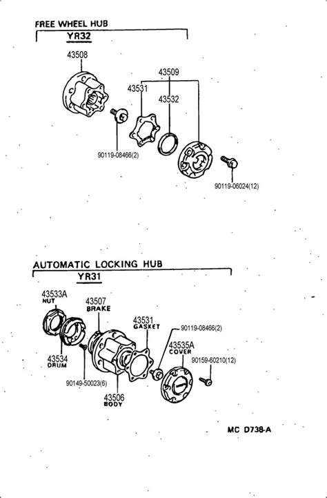 4353535010 - TOYOTA Cover, automatic locking hub   Toyota