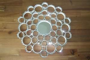 Spiegel Selber Bauen : diy deko pailletten spiegel aus papprollen selbst mach ~ Lizthompson.info Haus und Dekorationen