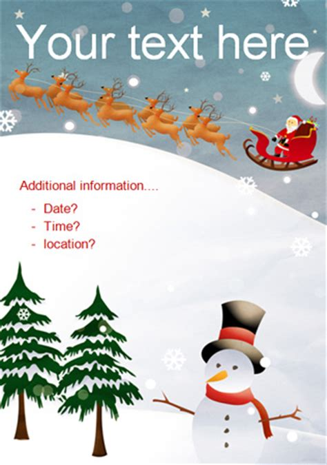 christmas party editable poster   early years