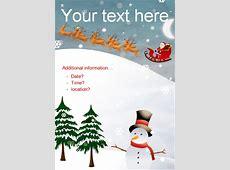 free editable christmas posters